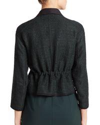 Akris Punto - Green Embroidered-stripe Drawstring Jacket - Lyst