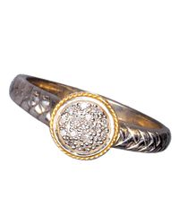 Effy - Metallic Sterling Silver 18 Kt Yellow Gold Diamond Ring 07 Ctw - Lyst