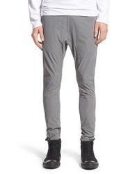 Zanerobe Gray 'salerno Tech' Stretch Nylon Jogger Pants for men