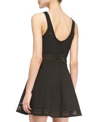 Elizabeth and James | Black Kenton Sleeveless Cutout A-line Dress | Lyst