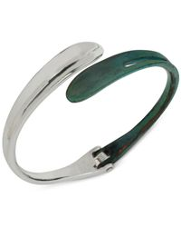Robert Lee Morris | Green Silver-tone Patina Hinge Bangle Bracelet | Lyst