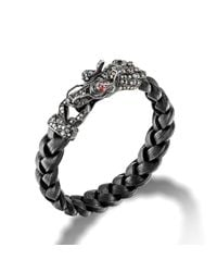 John Hardy | Black Dragon Head Bracelet for Men | Lyst