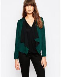 Vero Moda | Green Waterfall Cardigan | Lyst