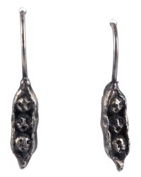 Momocreatura - Black 'Sweetpea Brothers' Earrings - Lyst