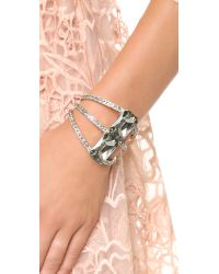 Oscar de la Renta | Large Octagon Stone Bracelet - Black Diamond/silver | Lyst