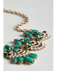 Ana Accessories Inc - Metallic Hit The Town Stunning Necklace In Jade - Lyst