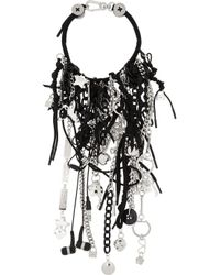 Marc By Marc Jacobs - Black Number 3 Silver-Plated, Resin And Cubic Zirconia Charm Necklace - Lyst