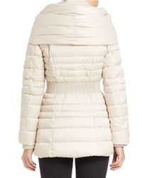 Laundry by Shelli Segal - Multicolor Fitted Puffer Coat - Lyst