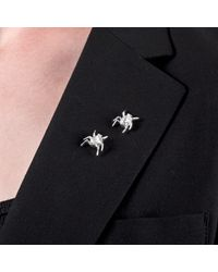 Edge Only - Metallic Spotted Bug Lapel Pin Silver - Lyst