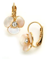 kate spade new york | Natural Disco Pansy Drop Earrings | Lyst