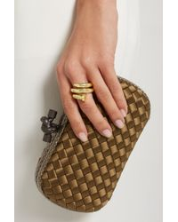 David Webb | Metallic Nail 18-Karat Gold Ring | Lyst