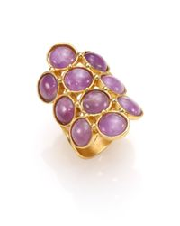 Stephanie Kantis | Metallic Groove Light Amethyst Coin Ring | Lyst