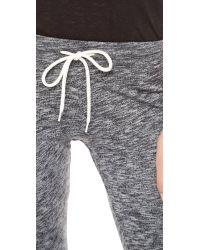 Monrow - Gray Cuff Sweatpants - Lyst