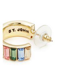 St. John | Metallic 'rondelle' Gemstone Earrings | Lyst