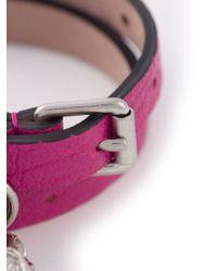 Alexander McQueen - Purple Double Wrap Skull Bracelet - Lyst