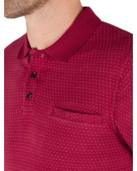 Racing Green - Pink Francis Jacquard Spot Polo Shirt for Men - Lyst