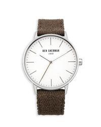Ben Sherman - Green Canvas Herringbone Watch for Men - Lyst