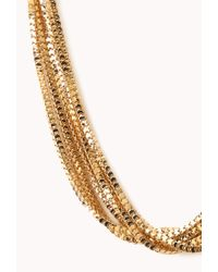 Forever 21 | Metallic Faux Stone Geo Bead Necklace | Lyst