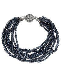 John Lewis | Blue Sparkle Multi Row Bracelet | Lyst