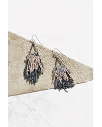 Urban Outfitters | Metallic Pixie Fringe Drop Earring | Lyst