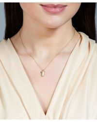 Astley Clarke - Metallic Gold-plated Moonstone Prismic Pendant Necklace - Lyst