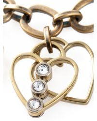 Lanvin | Metallic Heart, Cross, Flower Charm Bracelet | Lyst