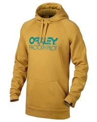 Oakley - Yellow Dwr Cotton Blend Sweatshirt for Men - Lyst