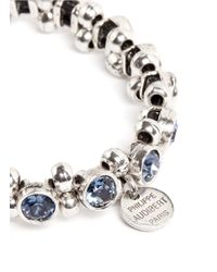 Philippe Audibert - Blue Strass Crystal And Beads Bracelet - Lyst
