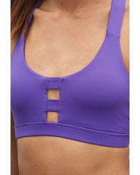 Forever 21 - Purple Medium Impact - Caged Back Sports Bra - Lyst