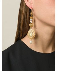 Dolce & Gabbana - Metallic Marionette Filigree Earrings - Lyst