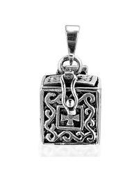 Aeravida | Metallic Faith/hope/cross Prayer Box Locket .925 Silver Pendant | Lyst