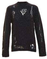 3.1 Phillip Lim - Black Distressed Knit - Lyst