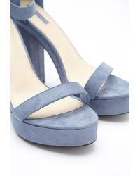 Forever 21 - Blue Platform Ankle Strap Sandals - Lyst