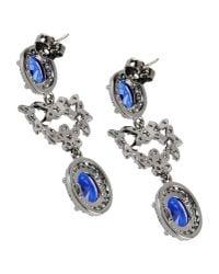 CZ by Kenneth Jay Lane - Blue Earrings - Lyst