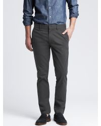 Banana Republic | Gray Fulton Skinny Cotton Chino for Men | Lyst