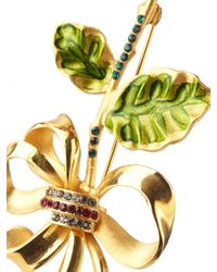 Dolce & Gabbana - Metallic Crystal-embellished Brooch - Lyst