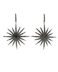 Bochic - Black Diamond Starburst Earrings - Lyst