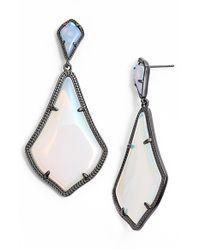Kendra Scott - Blue 'mystic Bazaar - Alexis' Drop Earrings - Gunmetal Iridescent Opalite - Lyst