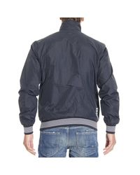 EA7 - Blue Down Jacket for Men - Lyst