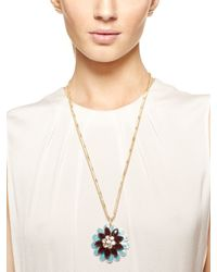 kate spade new york - Blue Bold Blooms Pendant - Lyst