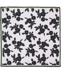 Paul Smith - Purple Black Miami Beach Floral Print Silk Scarf - Lyst