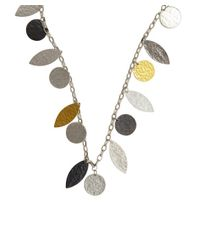 Gurhan - Metallic Silver And Gold 'willow' Necklace - Lyst
