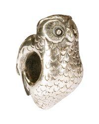 Trollbeads | Metallic Sterling Silver Owl Charm | Lyst