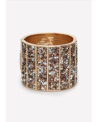 Bebe - Metallic Crushed Crystal Cuff - Lyst