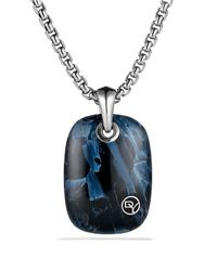 David Yurman | Blue Exotic Stone Tablet with Pietersite On Chain for Men | Lyst