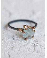 Free People - Blue Raw Aquamarine Ring - Lyst