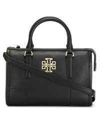 Tory Burch | Black Logo Plaque Tote | Lyst