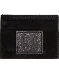 Del Toro | Black Haircalf Flat Card Case for Men | Lyst
