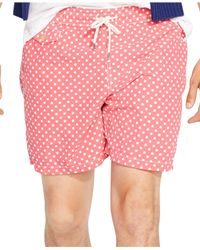 Polo Ralph Lauren | Pink Traveler Dotted Swim Shorts for Men | Lyst