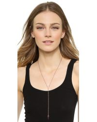 Rebecca Minkoff - Pink Y Necklace - Rose Gold - Lyst